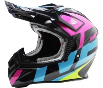 Free-M Fr-801 Pink-Blue-Black Cross Kask