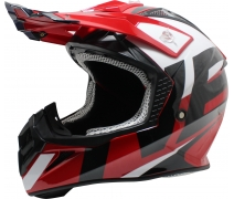 Free-M Fr-801 Red-White-Black Cross Kask